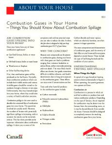 Combustion Gases in Your Home Things You Should Know About Combustion Spillage