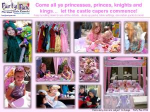 Come all ye princesses, princes, knights and kings let the castle capers commence!