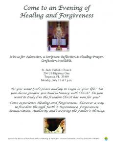Come to an Evening of Healing and Forgiveness
