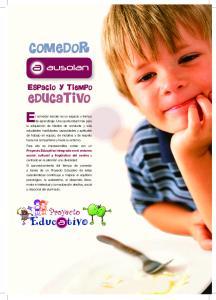 COMEDOR EDUCATIVO. Proyecto ESPACIO Y TIEMPO