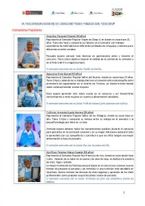 Comedores Populares 24 FINALISTAS (8 REGIONES) DEL CONCURSO COME PESCADO CON TODO 2016