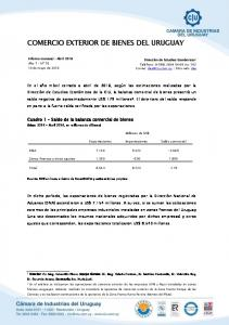 COMERCIO EXTERIOR DE BIENES DEL URUGUAY
