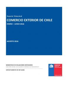 COMERCIO EXTERIOR DE CHILE
