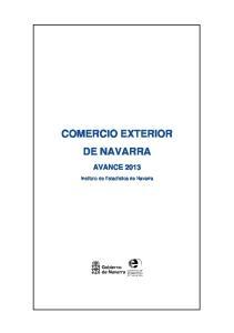 COMERCIO EXTERIOR DE NAVARRA