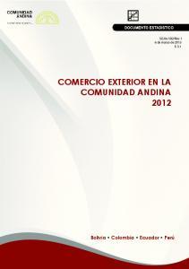 COMERCIO EXTERIOR EN LA COMUNIDAD ANDINA 2012