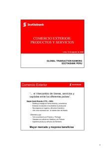 COMERCIO EXTERIOR: PRODUCTOS Y SERVICIOS