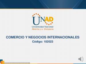 COMERCIO Y NEGOCIOS INTERNACIONALES. Código: