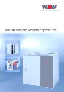 Comfort domestic ventilation system CWL