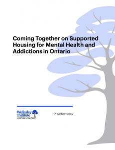 Coming Together on Supported Housing for Mental Health and Addictions in Ontario