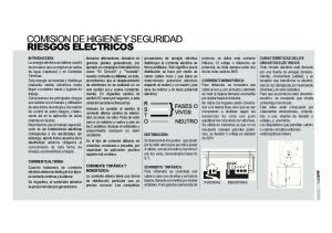 COMISION DE HIGIENE Y SEGURIDAD RIESGOS ELECTRICOS