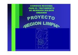 COMISION REGIONAL PARA EL TRATAMIENTO DE RESIDUOS SOLIDOS URBANOS