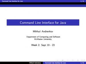 Command Line Interface for Java