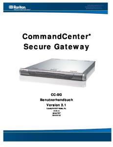 CommandCenter Secure Gateway