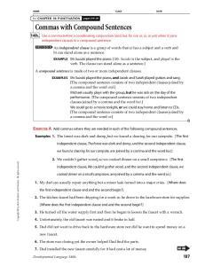 Commas with Compound Sentences