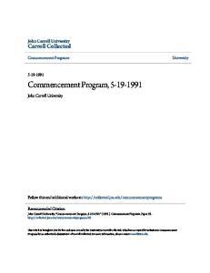 Commencement Program,