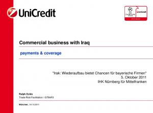 Commercial business with Iraq