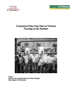 Commercial Dairy Goat Farm in Vermont Focusing on the Numbers