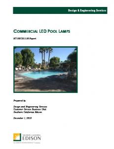 COMMERCIAL LED POOL LAMPS