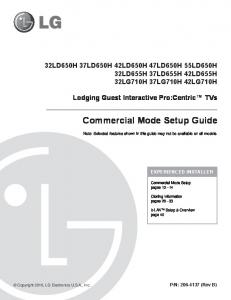 Commercial Mode Setup Guide