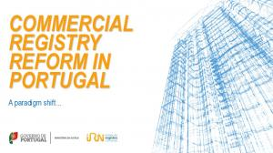 COMMERCIAL REGISTRY REFORM IN PORTUGAL. A paradigm shift