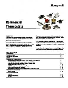 Commercial Thermostats