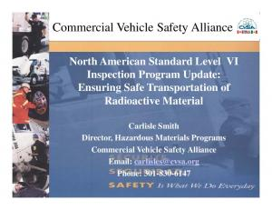 Commercial Vehicle Safety Alliance Alliance