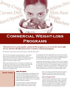 Commercial Weight-loss Programs