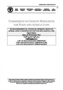 COMMISSION ON GENETIC RESOURCES