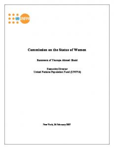Commission on the Status of Women Statement of Thoraya Ahmed Obaid