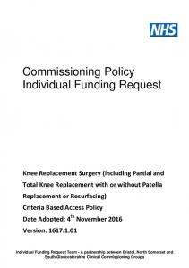 Commissioning Policy Individual Funding Request