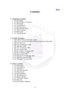 Committee Organizing Committee Advisory Committee Editor Committee