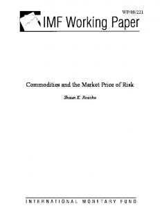 Commodities and the Market Price of Risk