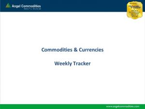 Commodities & Currencies. Weekly Tracker