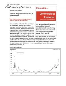 Commodities Essential. The resource for what matters