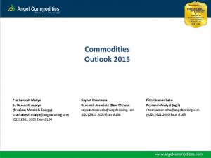 Commodities Outlook 2015