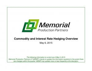 Commodity and Interest Rate Hedging Overview