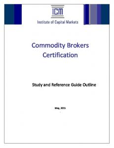 Commodity Brokers Certification