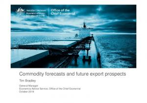 Commodity forecasts and future export prospects