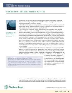 commodity index design