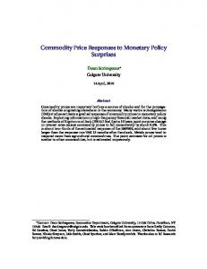 Commodity Price Responses to Monetary Policy Surprises