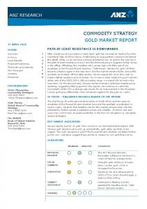COMMODITY STRATEGY GOLD MARKET REPORT