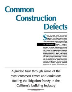 Common Construction Defects