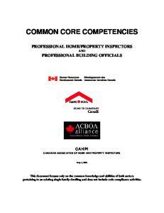 COMMON CORE COMPETENCIES