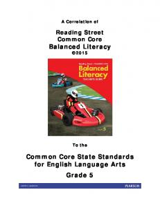Common Core State Standards for English Language Arts Grade 5