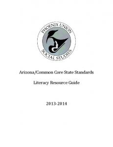 Common Core State Standards. Literacy Resource Guide