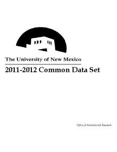 Common Data Set