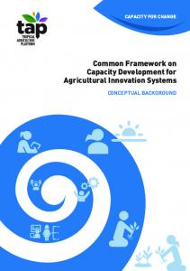 Common Framework on Capacity Development for Agricultural Innovation Systems