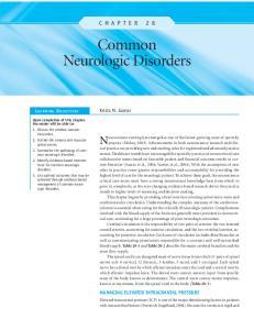 Common Neurologic Disorders