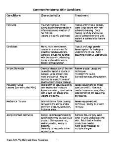 Common Peristomal Skin Conditions
