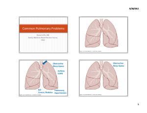 Common Pulmonary Problems